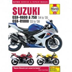 Suzuki GSX-R600/750 2004 - 2005 & GSX-R1000 2003 - 2008