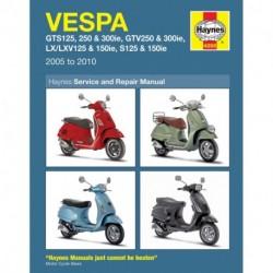 Vespa GTS GTV LX & S 125 to 300 2005 - 2014