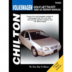 Volkswagen Golf Jetta and GTI Chilton Repair Manual covering models with 1.8L and 2.0L gasoline engines and 1.9L di