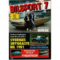 Bilsport nr 7  1981
